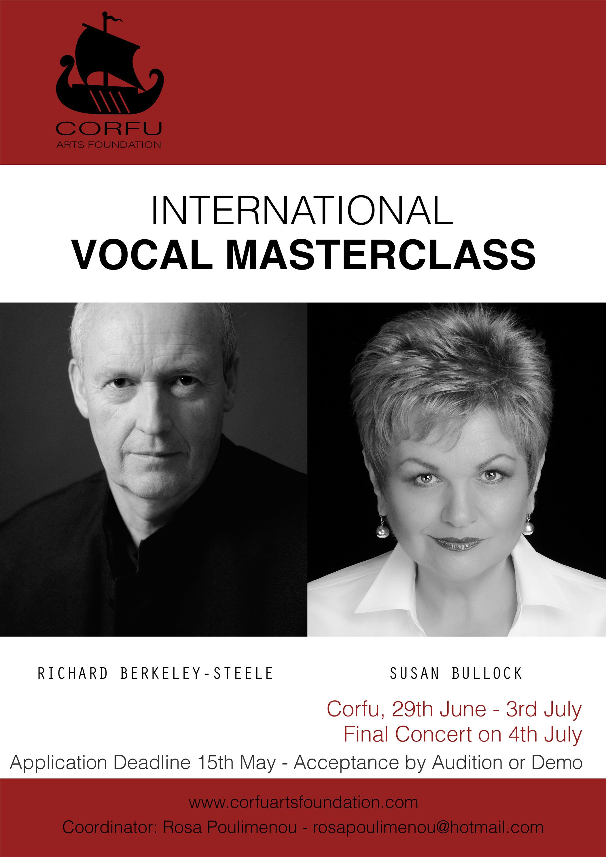 The First International Vocal Masterclasses in Corfu